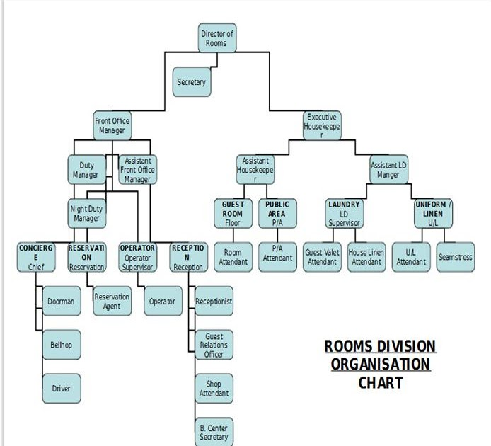 Kitchen Organizational Chart And Their Responsibilities: Harry Potter's Wiki: Chapter 4: Rooms Divison Operations