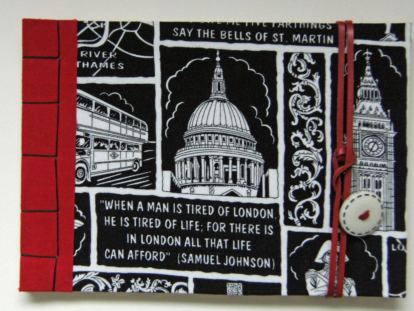 This london themed sketchbook
