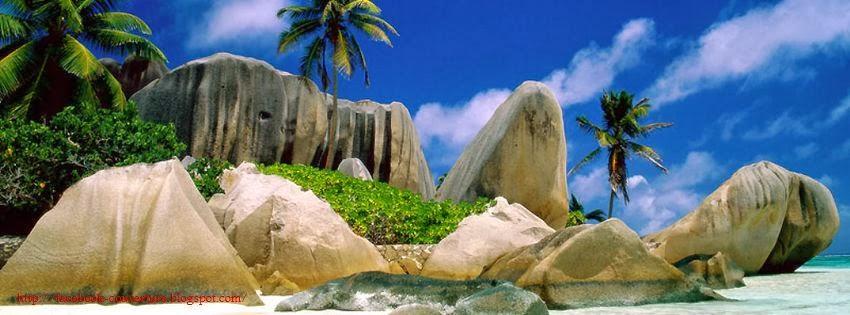 Couverture pour journal facebook plage tropicales