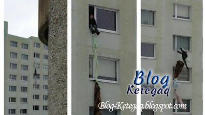 Suami dikurung isteri terjatuh bangunan ketika cuba lari