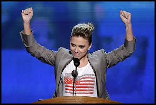 Scarlett Johansson en convención democrática