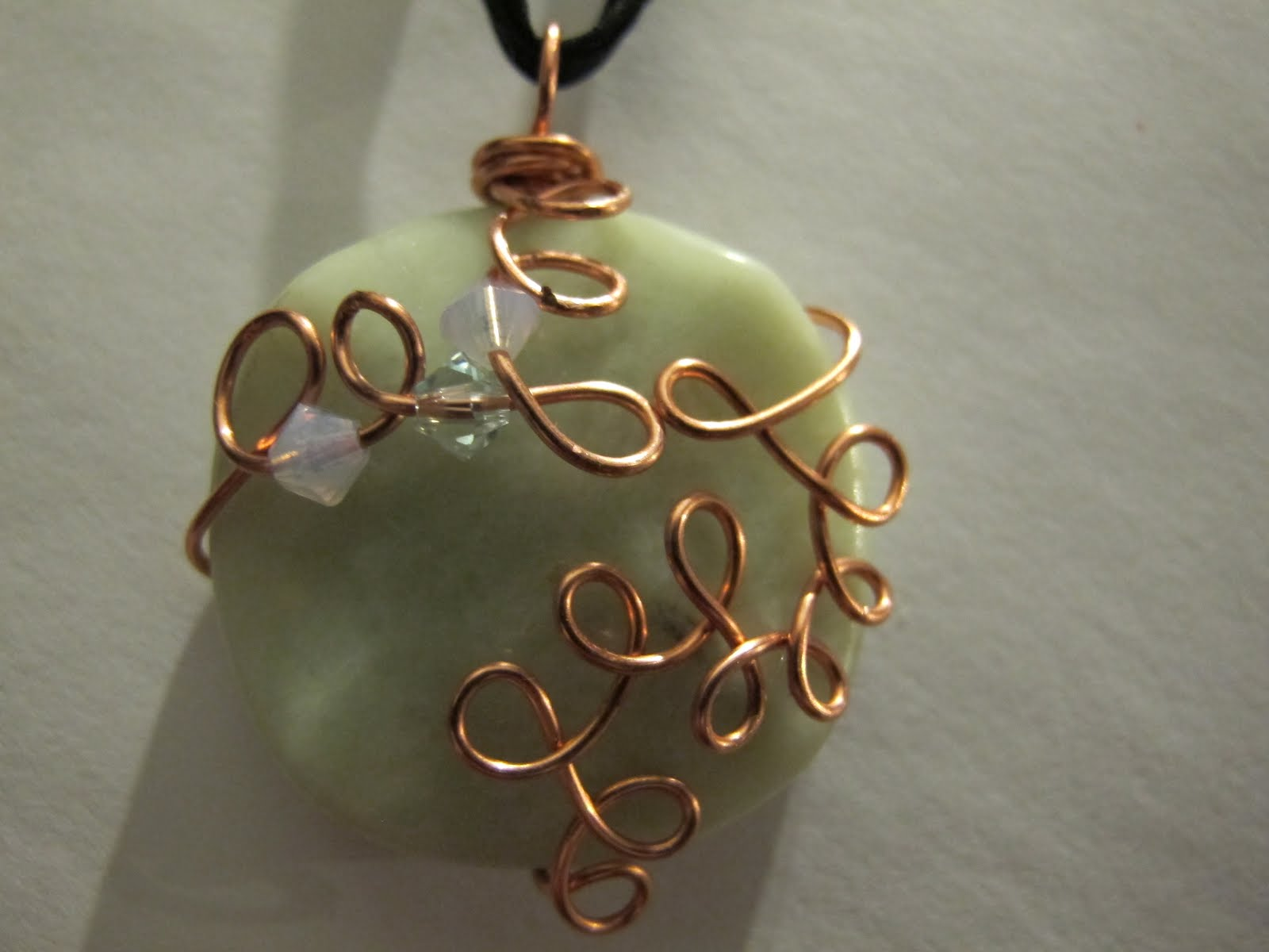 Naomi\'s Designs: Handmade Wire Jewelry: Wire wrapped lava, jade and ...
