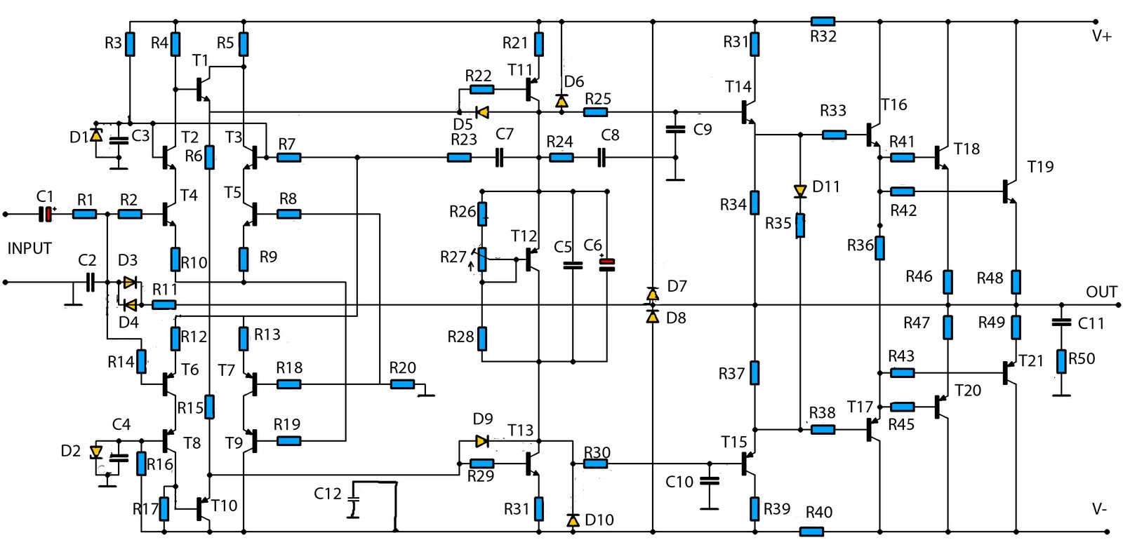hobi elekronika  2800w high power audio amplifier