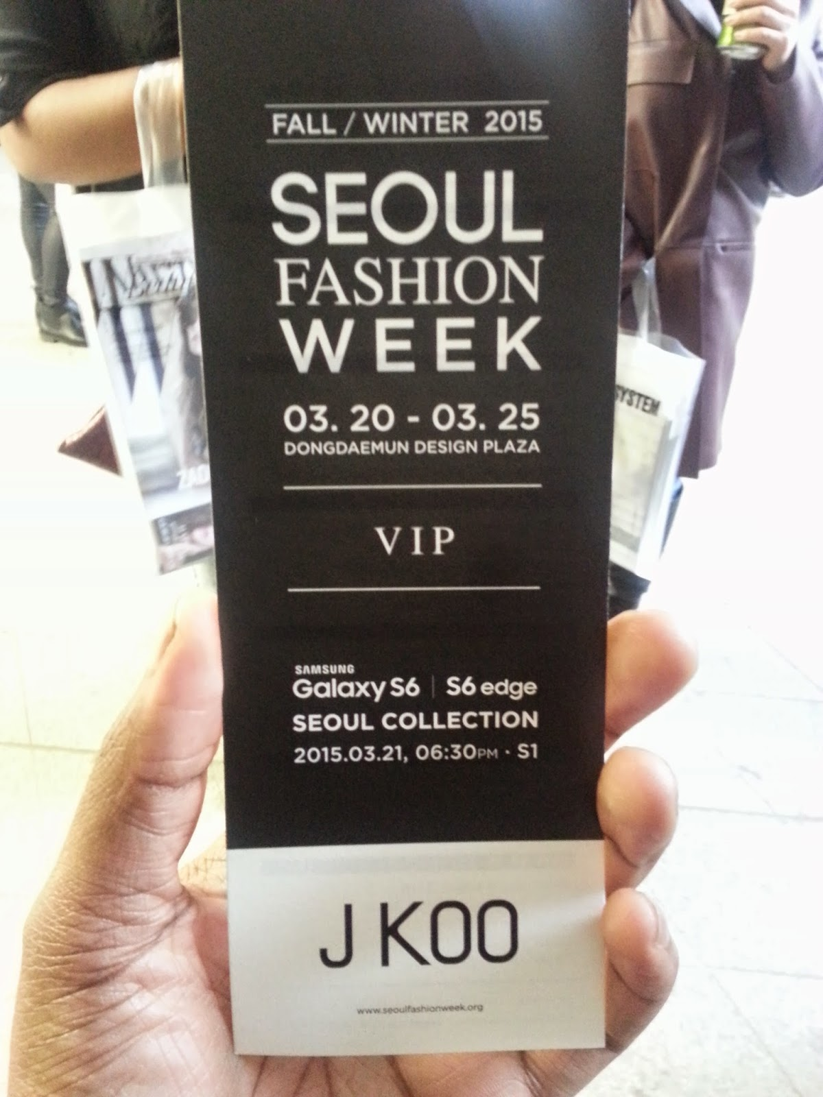 Seoul fashion week 2018 tickets