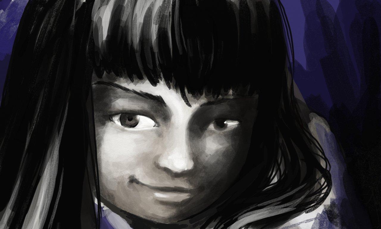 Portrait de Julia, Blue Black