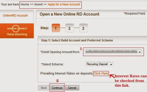 How To Open Online RD (Recurring Deposit) Account In Bank Of ...