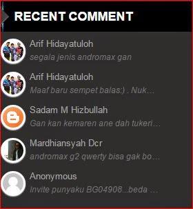 Cara buat recent comment