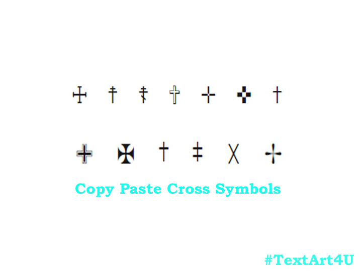 Cross Text Symbol Just Copy and Paste it in Text | Cool ASCII Text ...