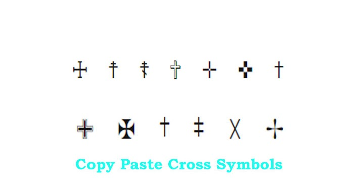 Cross text symbol just copy and paste it in text cool for In this house copy and paste