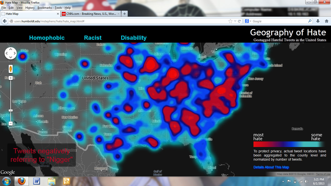 The Carpetbagger Racism Map - Racism map in the us