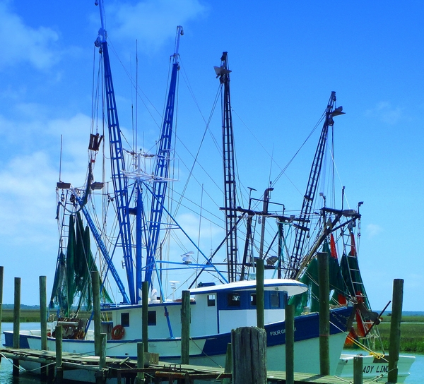 shrimp boats in beaufort county south carolina by http://DearMissMermaid.Com