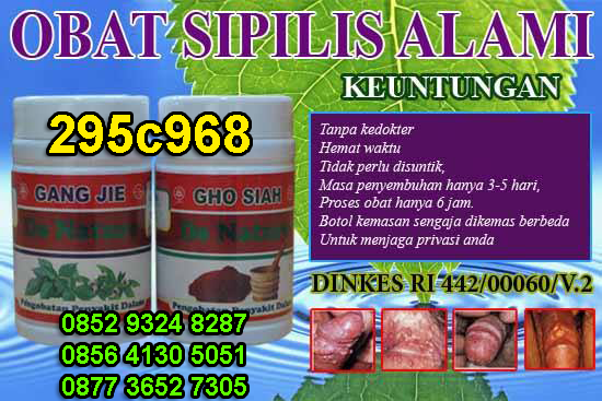 OBAT SIPILIS HERBAL DENATURE INDONESIA
