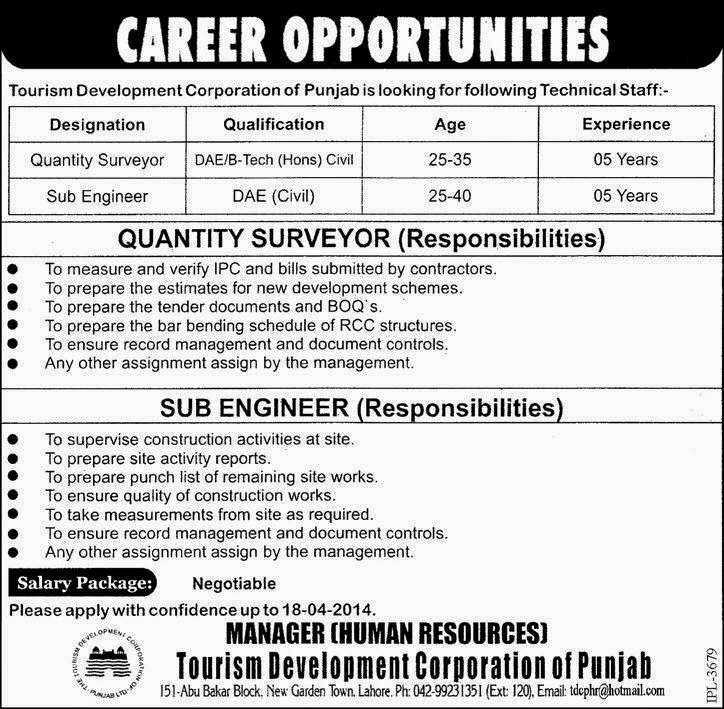 FIND  JOBS  IN  PAKISTAN   SUB  ENGINEER  &  QUANTITY   SURVEYOR    JOBS   IN   PAKISTAN    LATEST  JOB  IN  PAKISTAN
