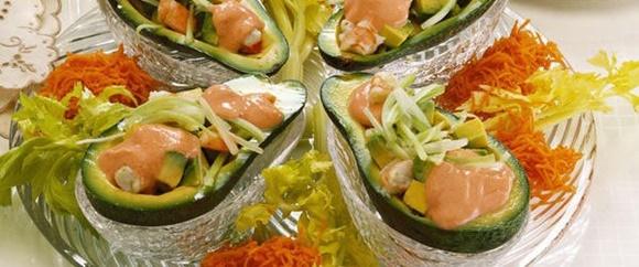 Salade De Crevette Exotique A L'Avocat