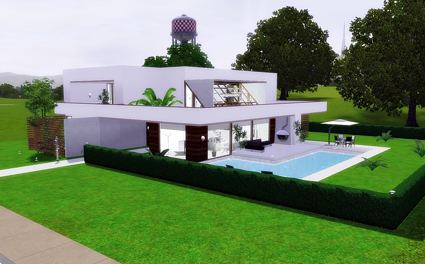 FOR MY SIMS Modern Cozy House from Via Sims