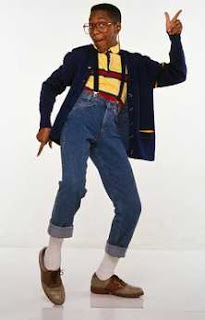 Urkel dancing nerdily.