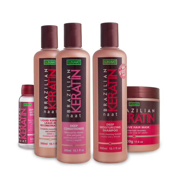 nuNAAT Brazillian keratin hair care line