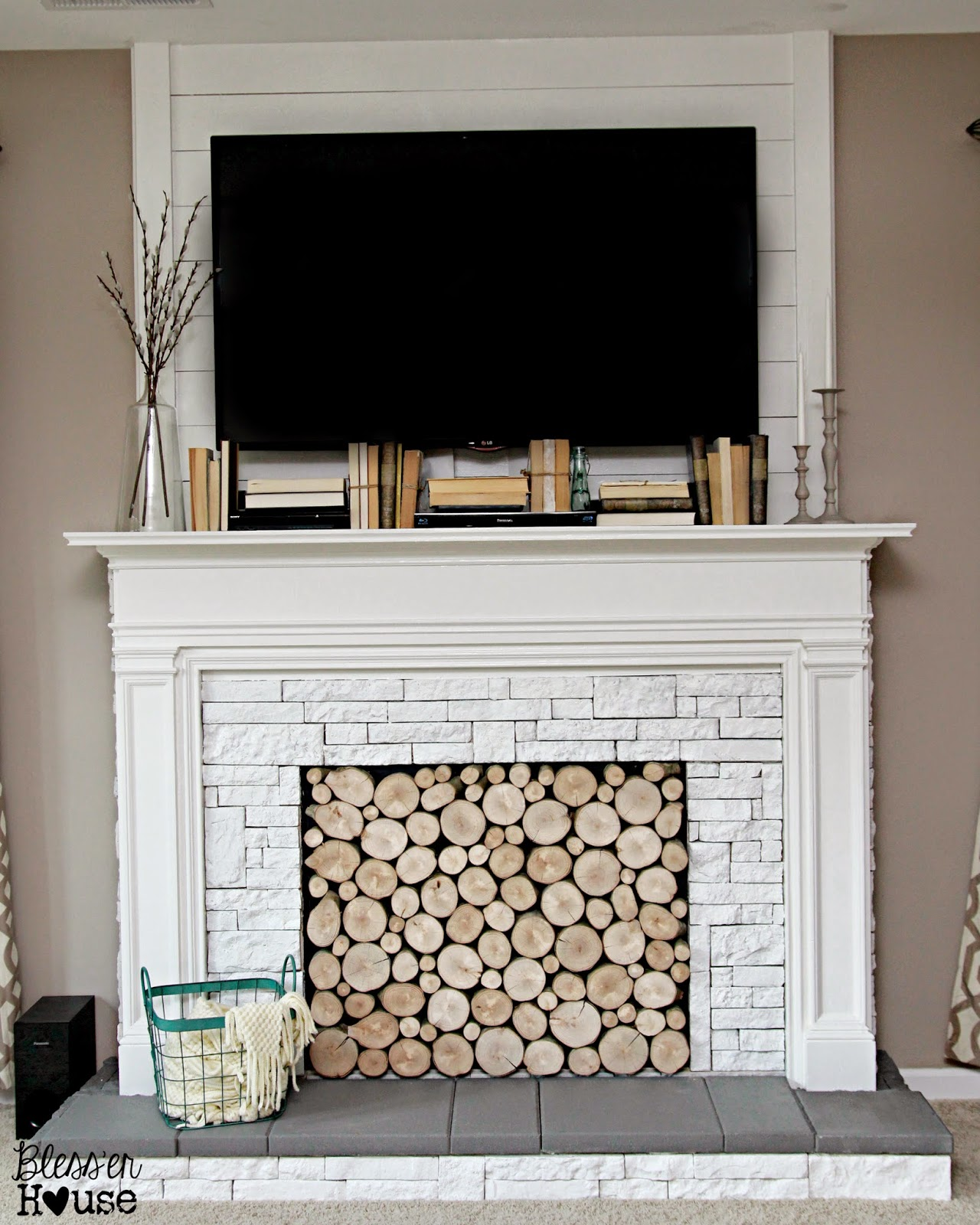 diy faux fireplace for 600 the big reveal bless