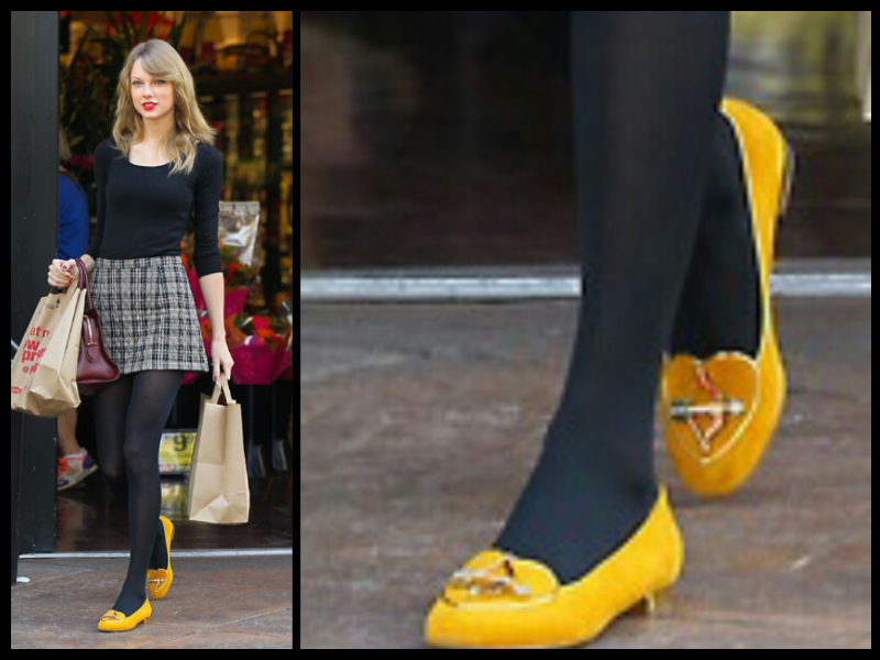 Taylor Swift Style Charlotte Olympia Yellow Loafers