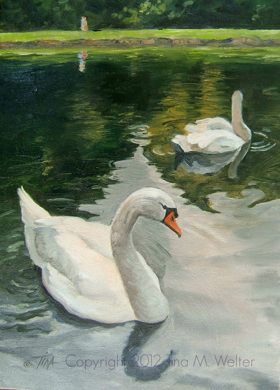 """7""""x 5"""" oil on """"Gessobord"""" copyright 2012, Tina M. Welter"""
