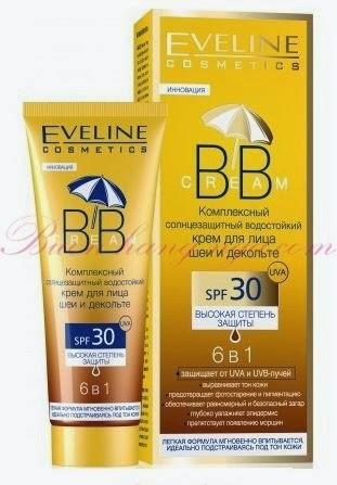Kem nền BB SPF 30 chống nắng Eveline mặt và cổ 6 in 1