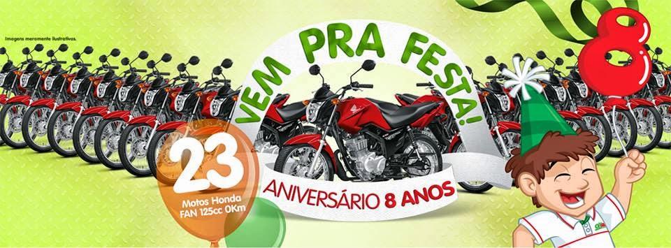 PROMOÇÃO DE 08 ANOS DE ANIVERSÁRIO DA REDE OESTE!
