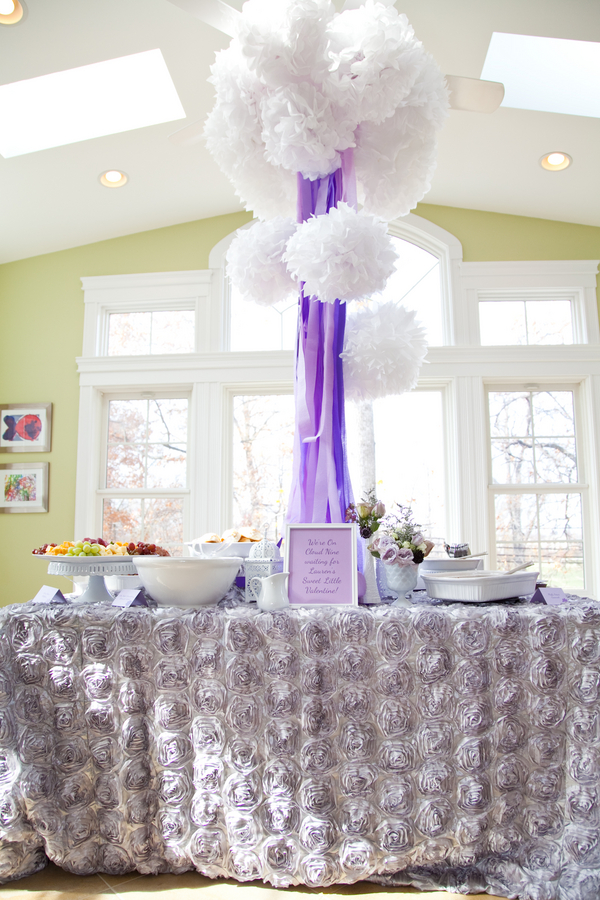 go back gallery for purple and white baby shower decorations