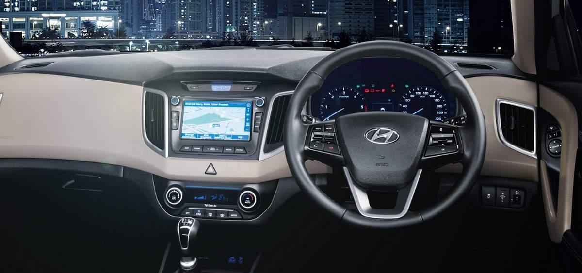 Hyundai creta v deo com o comercial de tv na ndia car for Creta sx o interior