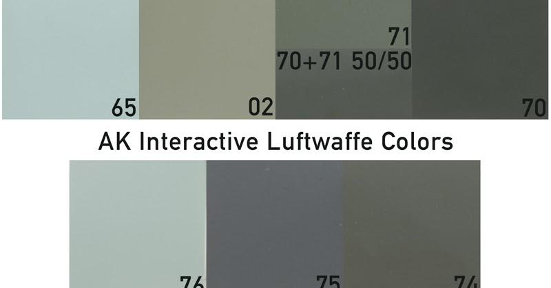 The Profile Paintshop Ak Interactive Ak2001 Luftwaffe Camouflages Air Series