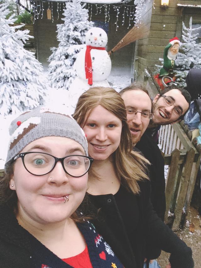 Four person selfie