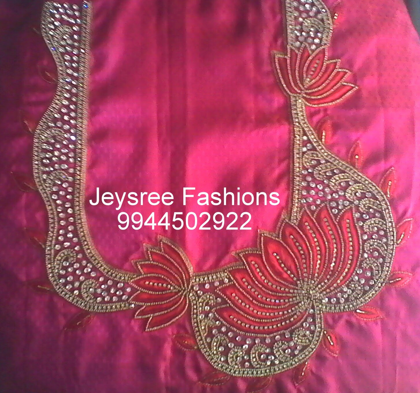 Zardozi Embroidery Blouse Designs 45