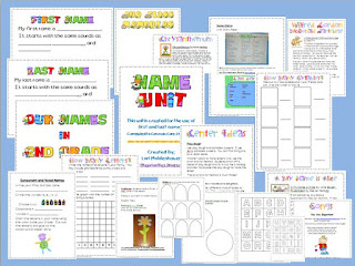 https://www.teacherspayteachers.com/Product/Name-Unit-for-First-and-Last-Names-Beginning-of-the-Year-142874