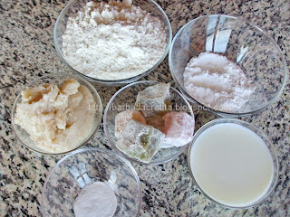 Cornulete cu rahat ingrediente reteta