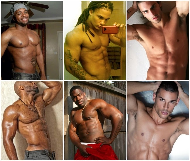 homens sem camisa