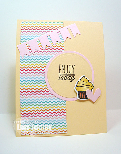 Enjoy Today card-designed by Lori Tecler/Inking Aloud-stamps from Verve Stamps
