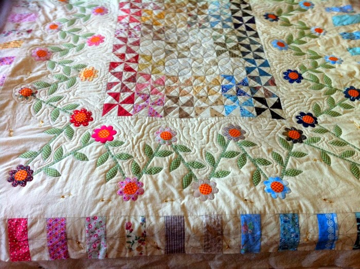 Bloemenquilt in wording