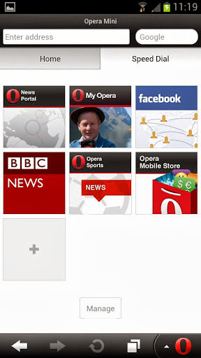 Opera Mini App Screenshot
