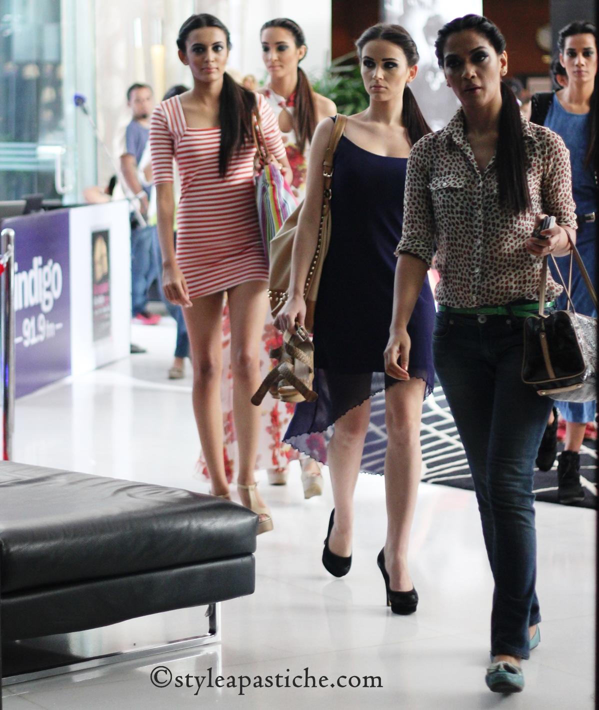 Model, BFW Street Style, Leopard Prints, Assymetric Sheer Dress, Nautical Prints,