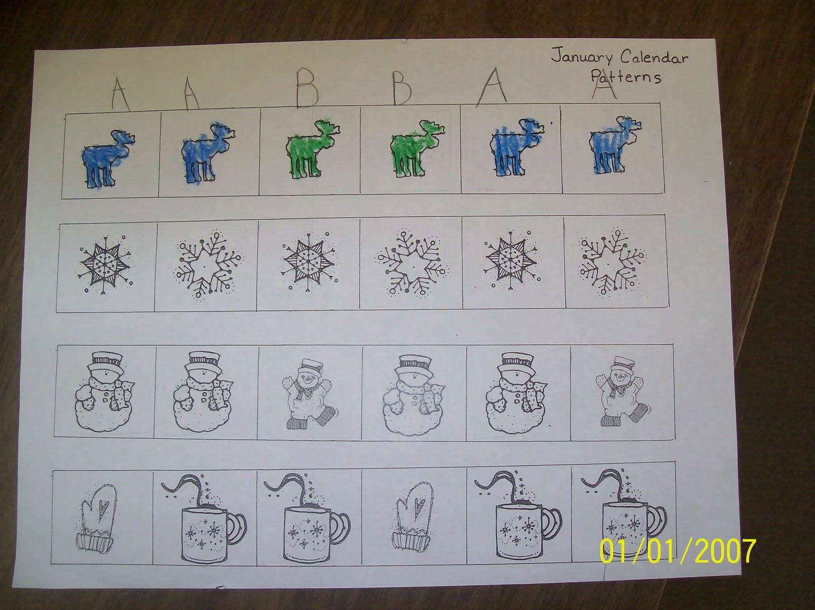 Calendar Patterns Kindergarten : Mrs straight s kindergarten korner calendar books