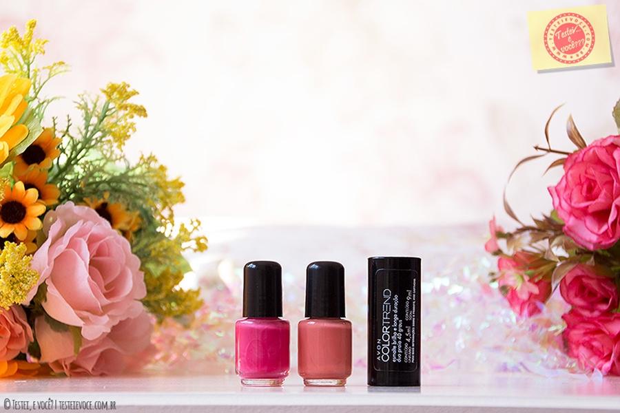 Swatches: Esmaltes Duo Brilho e Longa Duração Color Trend - Avon