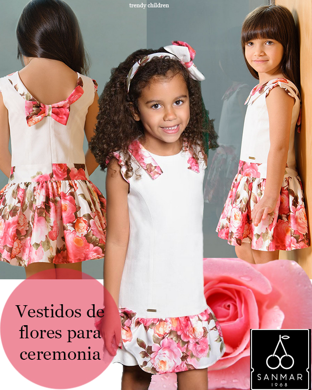 vestido flores niña invitada boda primera comunión