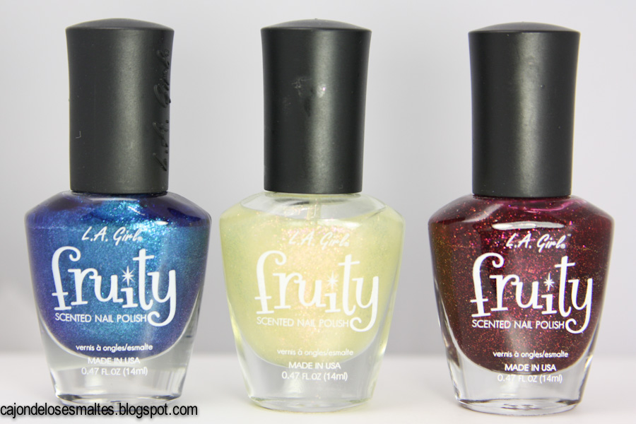 L.A. Girl Fruity - Blueberry Fizz - Sparkling Peach - Blissful blackberry