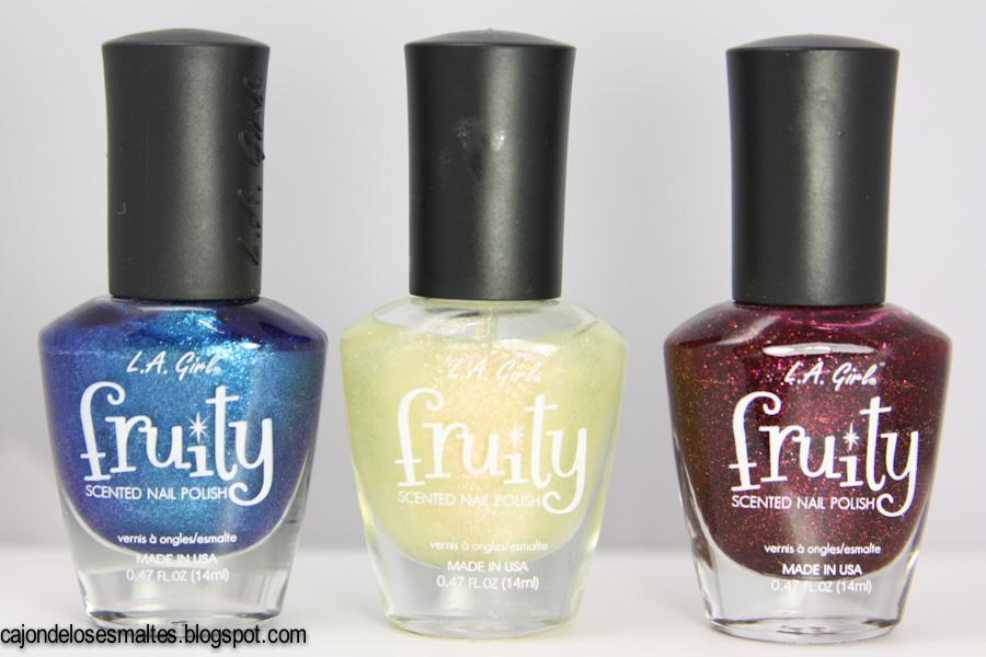 L.A. Girl Fruity - Blueberry Fizz - Sparkling Peach - Blissful blackberry