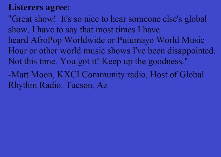 Listeners agree!