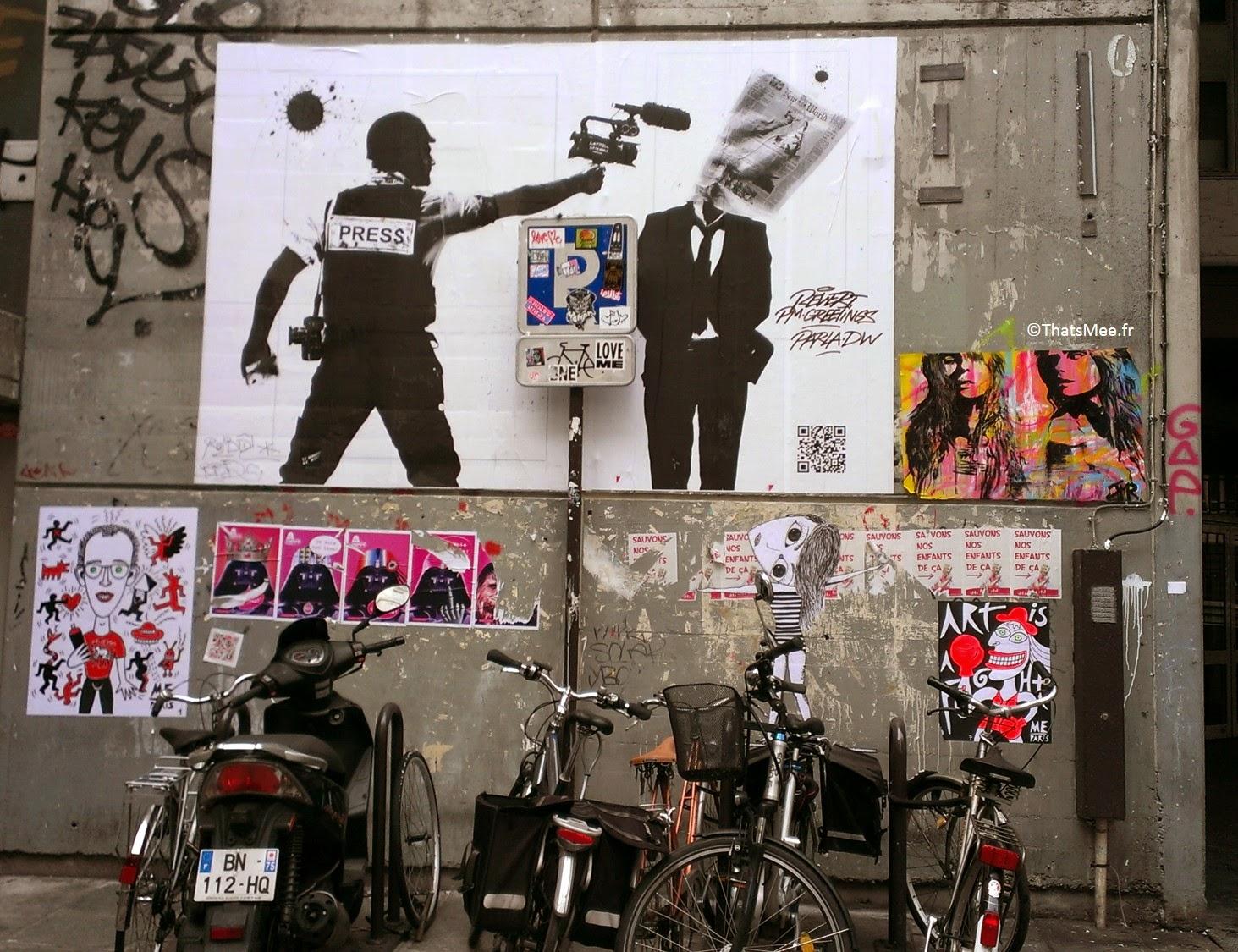 Street Art Liberté de la presse Paris Marais