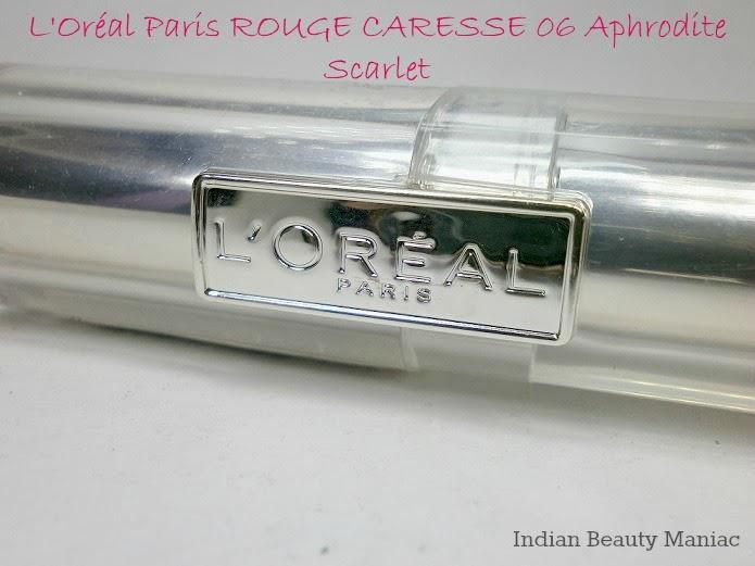 L'oréal Rouge Caresse lipstick in 06 APHRODITE SCARLET