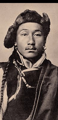 Tibetan man circa 1920s