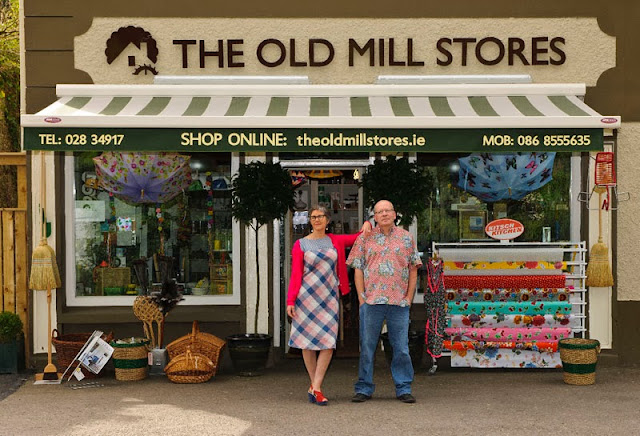 Owners Claire Graham and Tom Keane outside Old Mill Stores