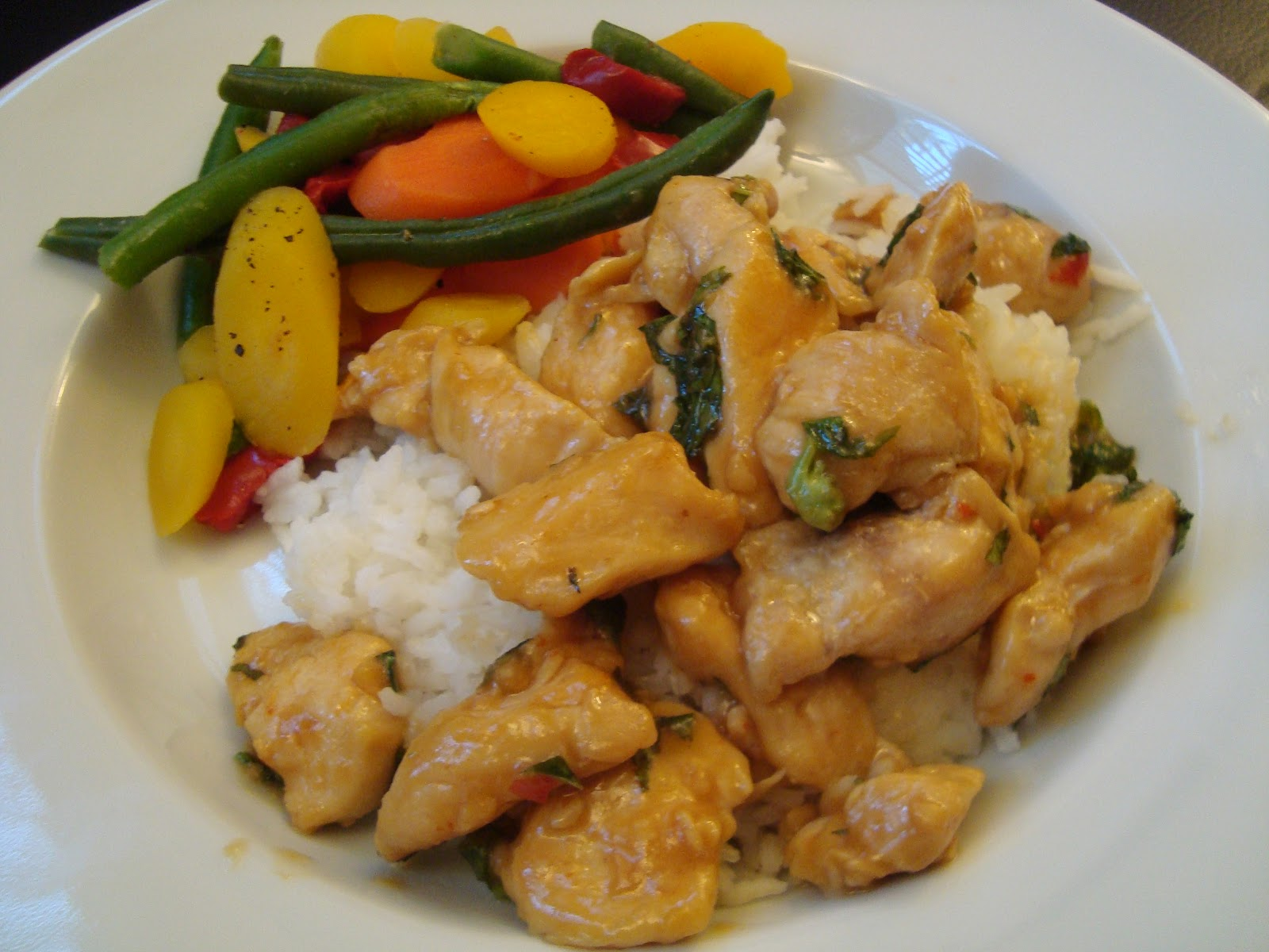A Little Cooking: Spicy Basil Chicken