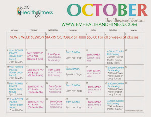 October class schedule